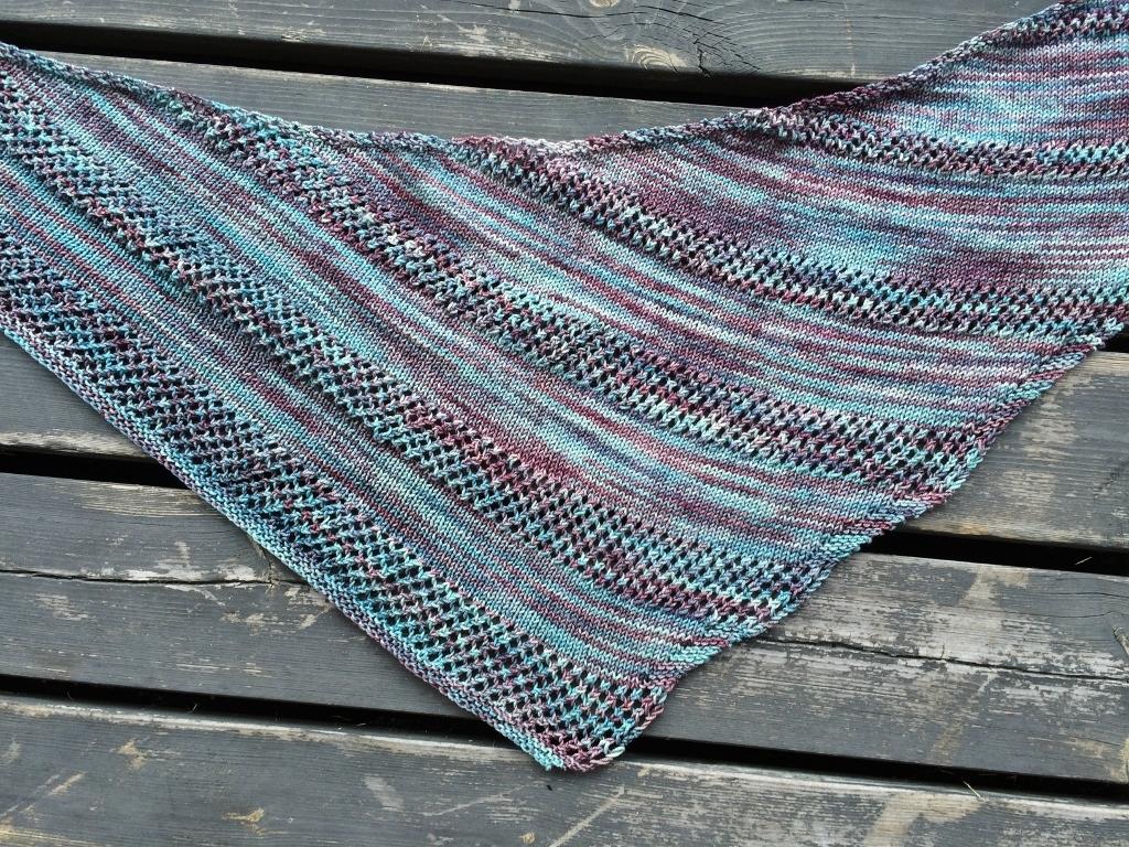 mönster till stickad sjal