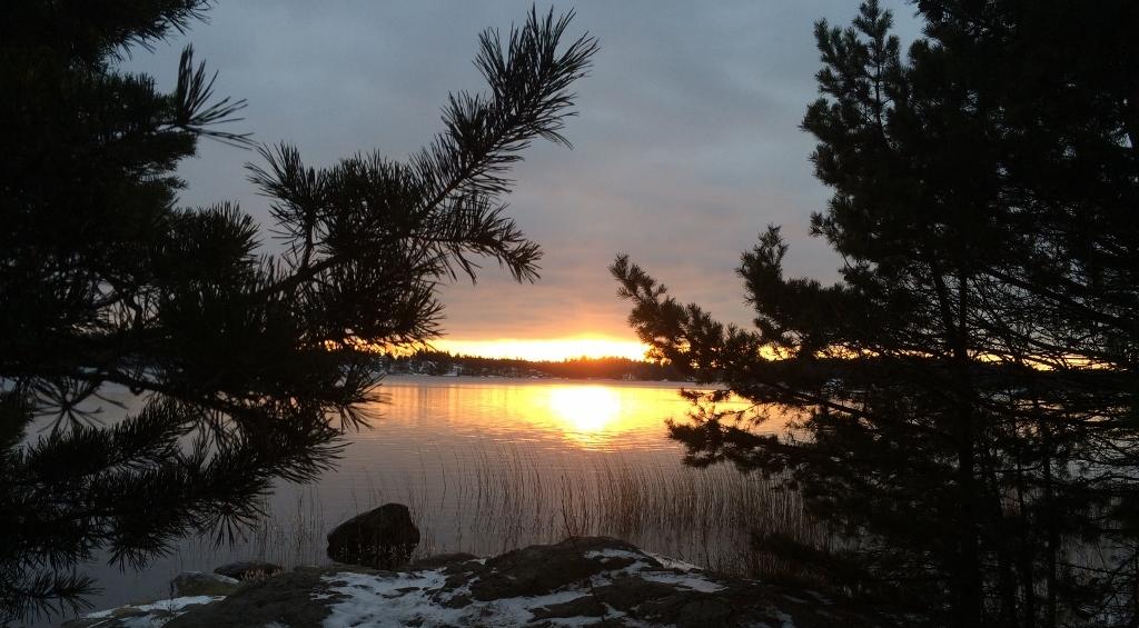 Solnedgång över Våmfjärden