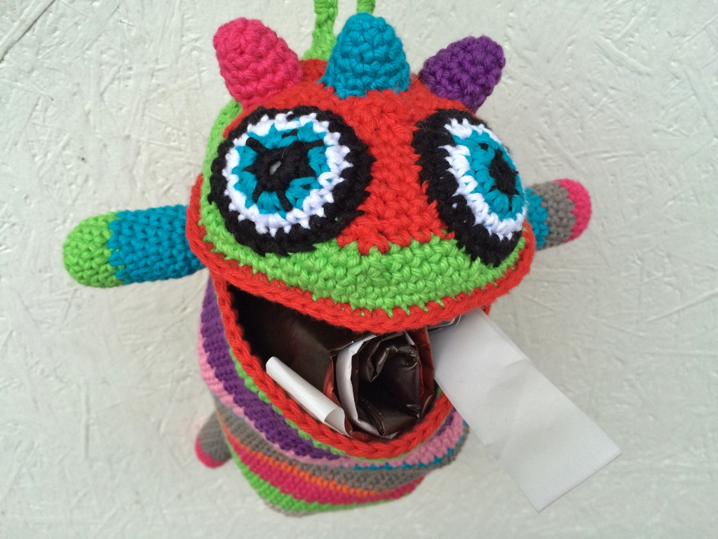 bag monster head