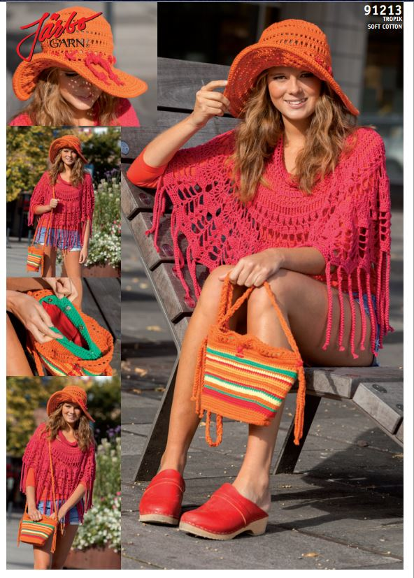 Mönsterbild poncho och hatt