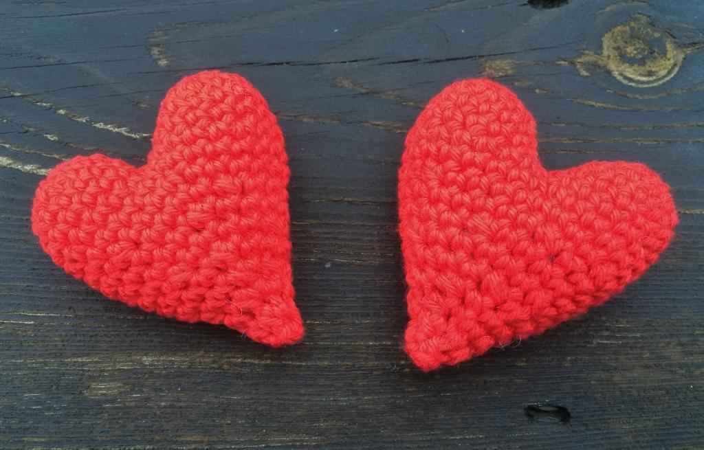 Hjärtan på trä